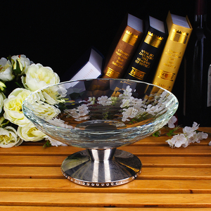 Wholesale high quality crystal fruit tray for bar