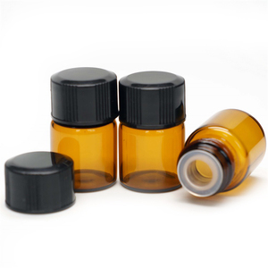 OEM Amber Tubular Glass 2ml Sample Bottle With Cone Line Cap
