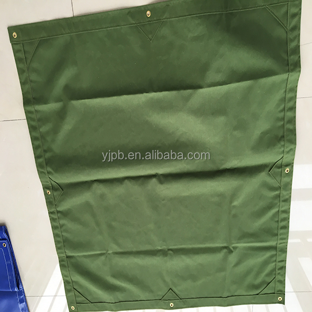 Green 12OZ finished canvas tarpaulins 100% <strong>polyester</strong>