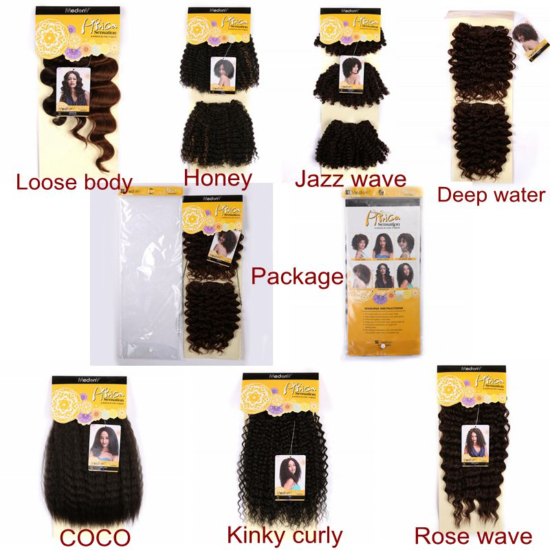 Japanese Synthetic Kinky Curly Afro Hair Weave
