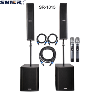 SHIER pa systems active 15 inch professional speaker box chinese karaoke machine