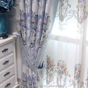 Gray And Pink Jacquard Fabric Curtains English Stylefrench Style Curtainslatest Curtain Styles