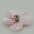 Wholesale pink and grey handmade small sequin flower patch for shirts WPHB-254