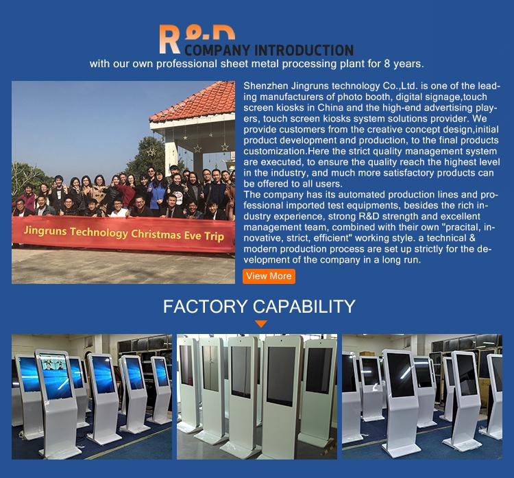 Kiosque de photo d'écran tactile multi de 32 pouces debout de plancher avec le PC, mini cabine de photo de station de Selfie