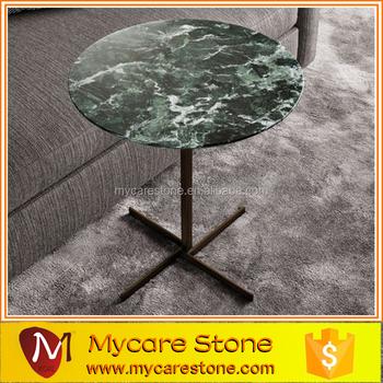 Stellar Indian Dark Green Marble Coffee Table
