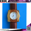 2015 Koda Natural Eco-friendly Leather Quartz Bewell Bamboo Wood Watches Relojs