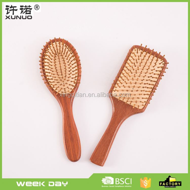 New products wooden massage handmade round airbag mirror comb