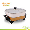 Non stick multi electric frying pan with glass lid