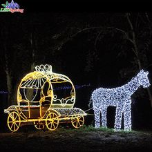 <span class=keywords><strong>L</strong></span>: 6 m W: 2 m H: 2.3 m LED Carriage 와 말 Christmas Decoration 등