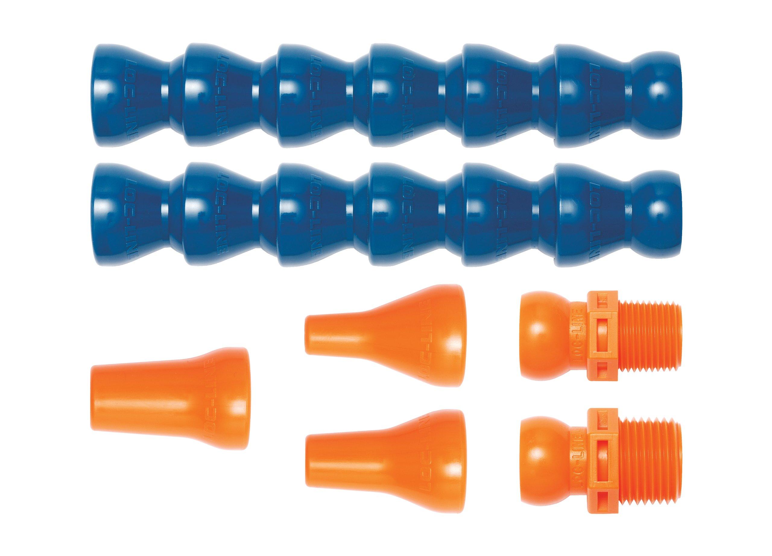 6 Length x 3-1//2 Width Loc-Line Anti-Static Vacuum Hose Component 2-1//2 Hose ID Rectangular Nozzle Black Acetal Copolymer