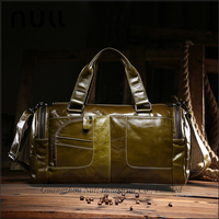 Antique style vintage oil leather men waterproof leather duffle bag for travelling