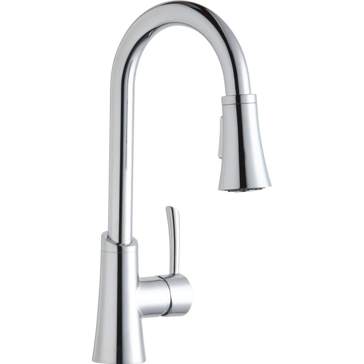 Elkay LKGT3032CR Gourmet Chrome Single Lever Pull-down Spray Bar Faucet