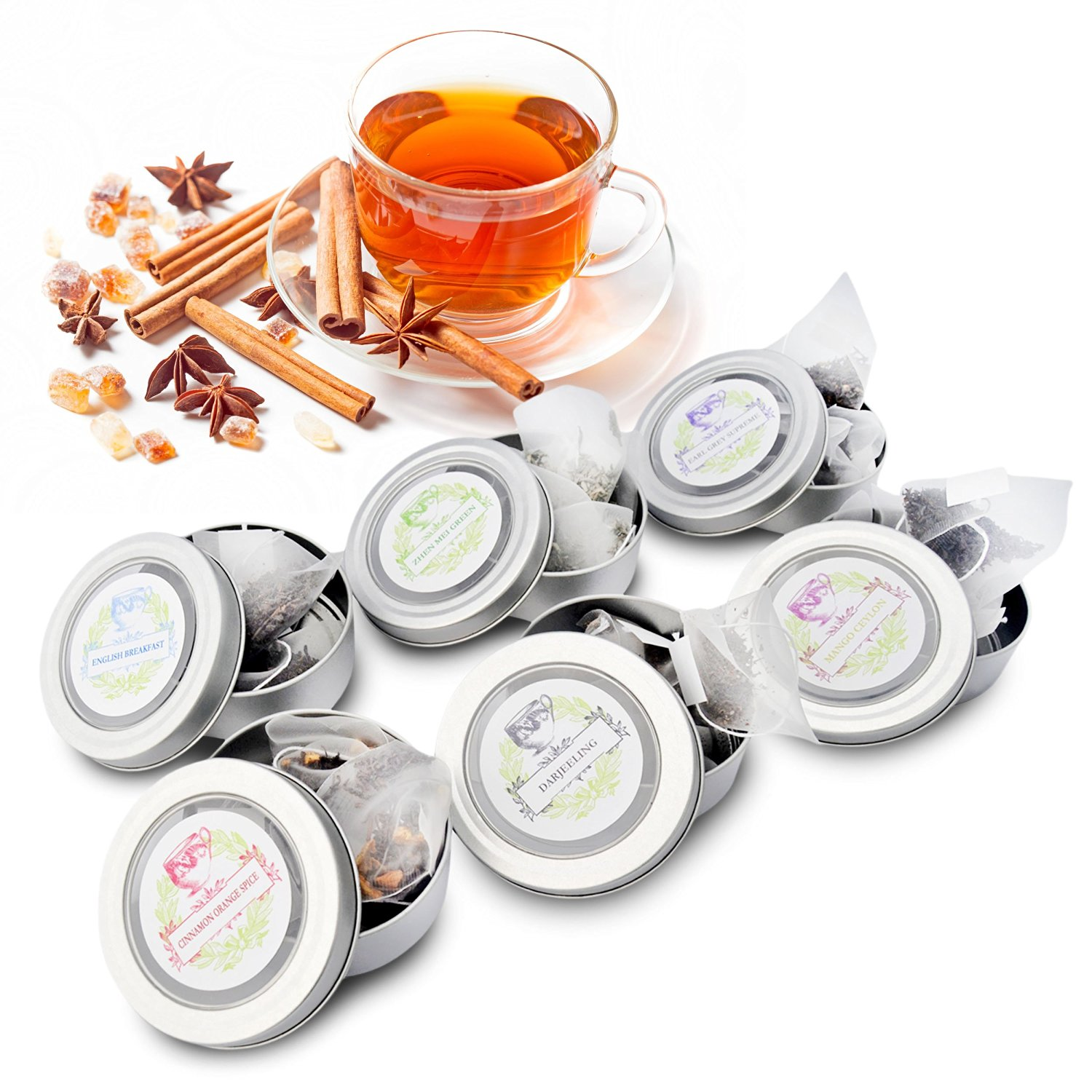 Flourish and Thrive Tea Gift Set, Loose Leaf in Wooden Box