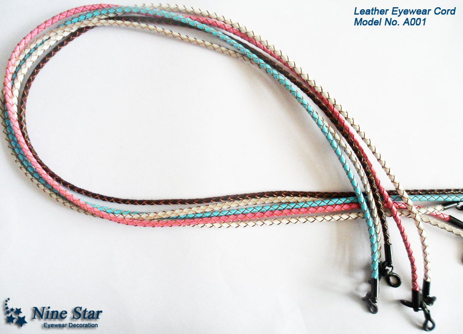 Leather Sunglass Strap  braided leather eyeglass eyewear cord sunglass neck strap leather
