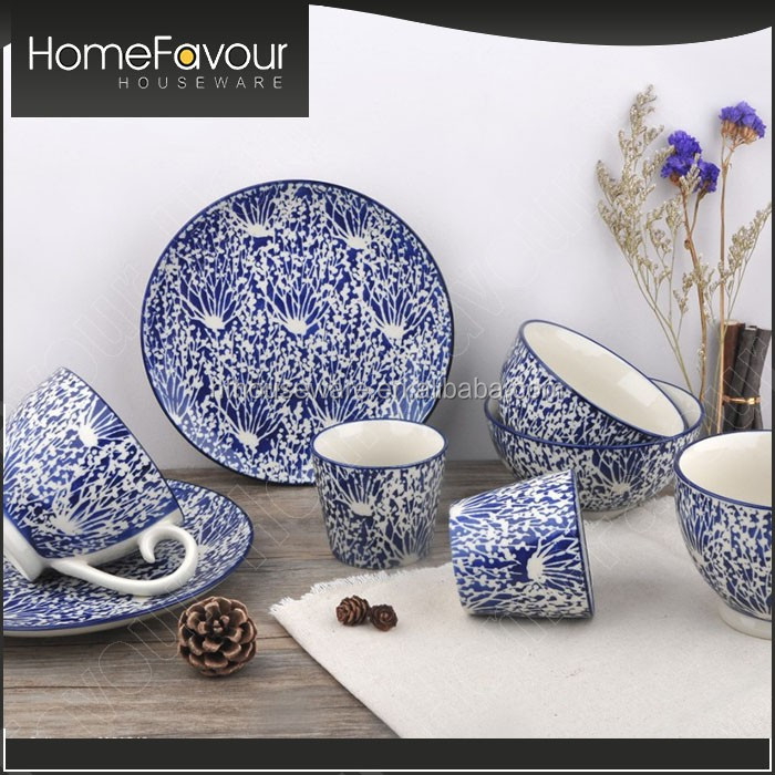 Top Chinese Supplier Decorative Item Hand Painted White S Shape Dishes Dinner Set