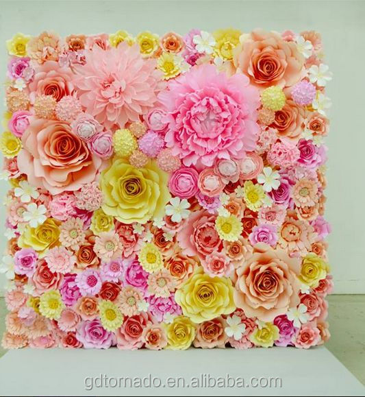 Large Paper Flowers Backdrop Giant Paper Flowers Backdrop Paper Flower Wedding Decor Buy Paper Flowers Wedding Wall Decorations Wedding Stage