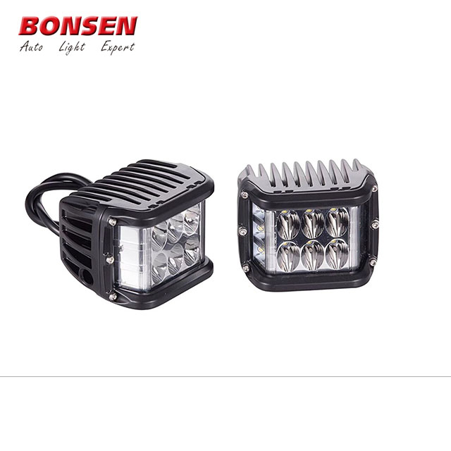 Factory price best quality 12V 24 Volt White Amber Red Blue Dual Color 60W Pods Offroad Strobe Flashing Truck Car Led Work Light