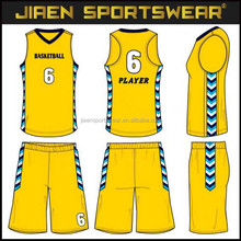 different name different number basketball jersey uniform design color yellow offical league matches basketball uniform design