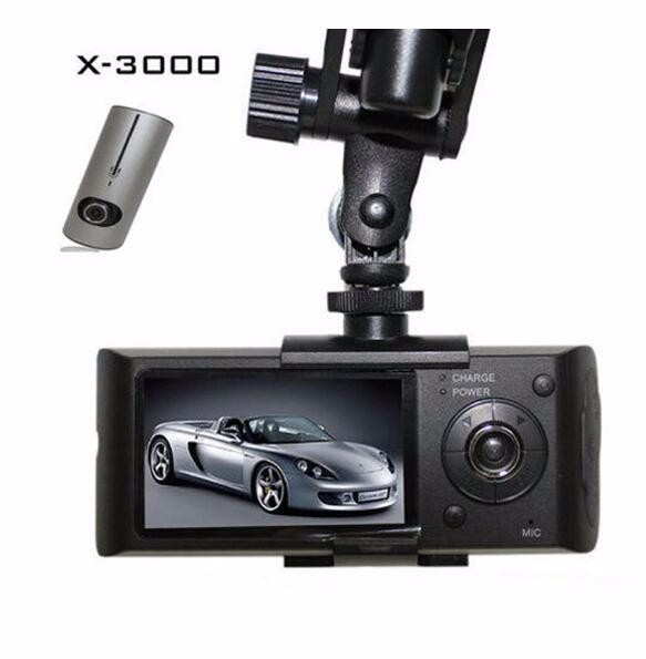 X3000/R300 manual Dual Camera lens gps car dvr H.264 HD 1080p dash cam dual camera car dvr