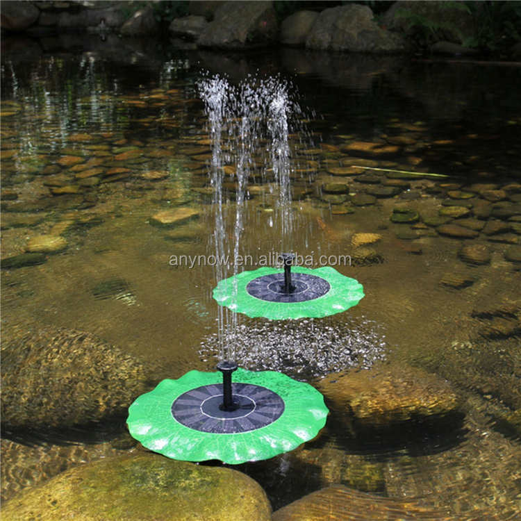 Outdoor Lotus Leaf Solar Pump Pond Waterfall Fountain