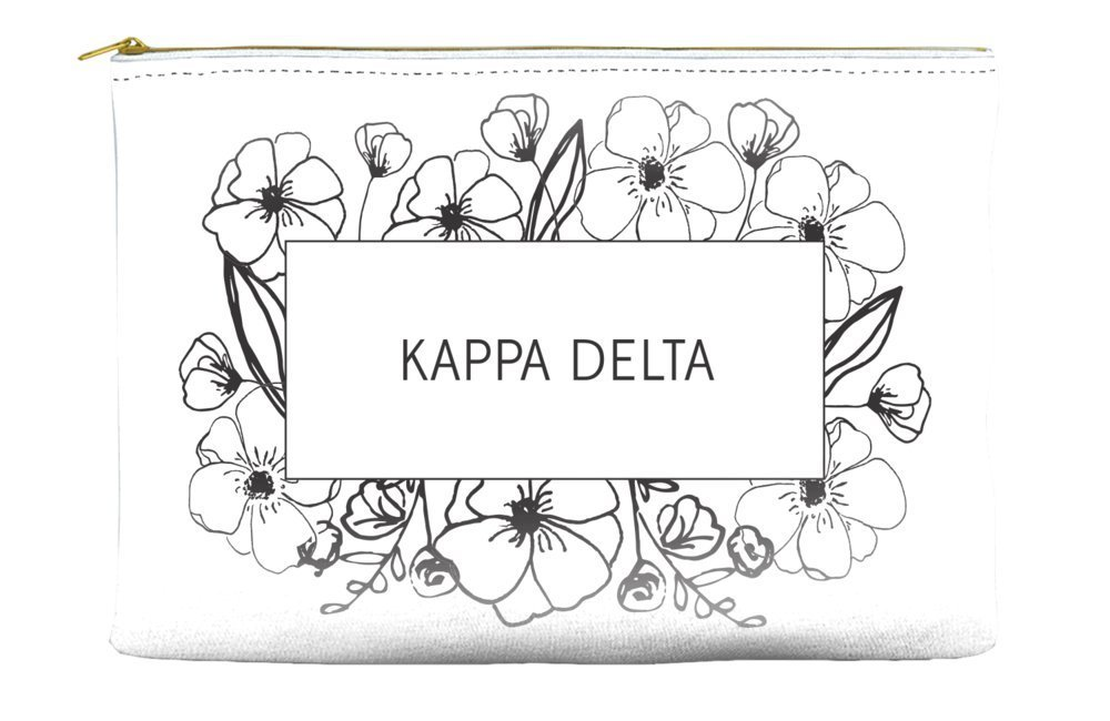 Kappa Delta Flower Box White Cosmetic Accessory Pouch Bag for Makeup Jewelry & other Essentials