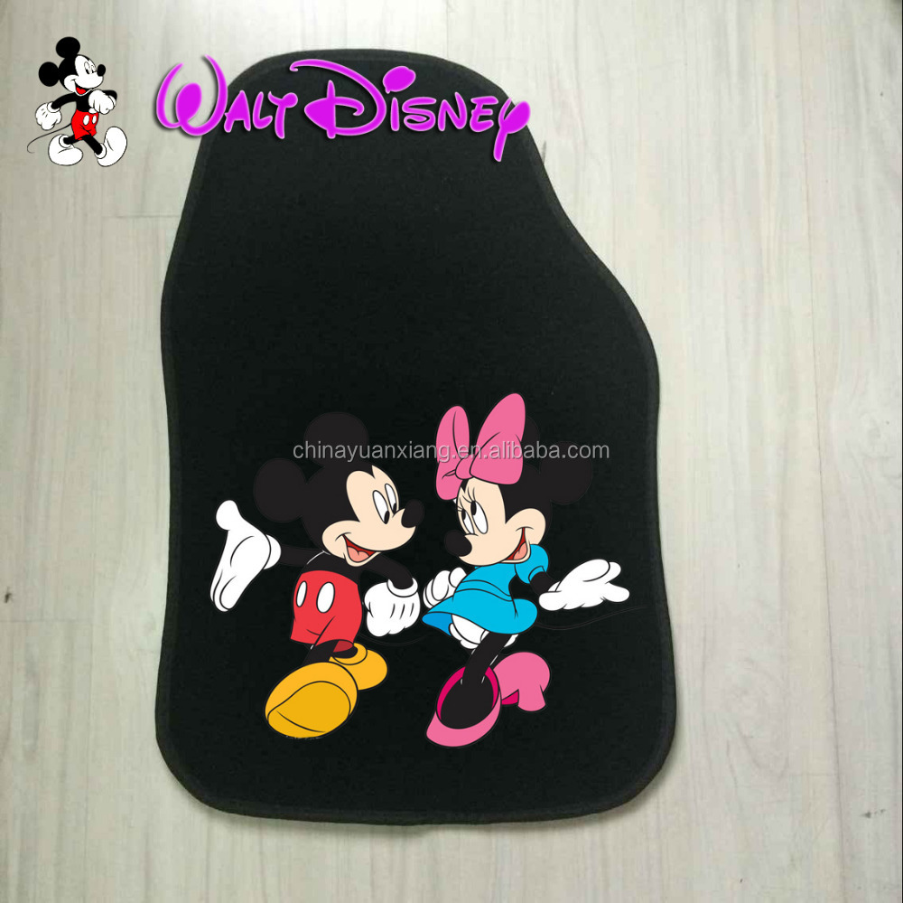cute cartoon mickey mouse car floor mats with disney fama