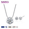 MSYO brand Yiwu direct selling bridal jewelry set high quality colorful zircon jewelry set