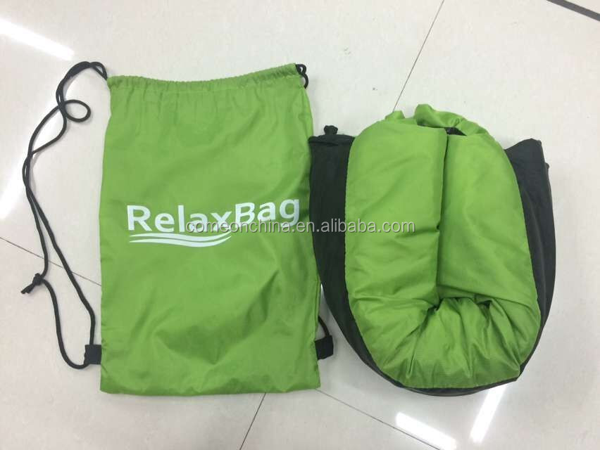 Air Sleeping Bag : Relaxing instantly foldinginflatable air bean bag bed
