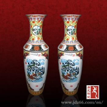 Besar Keramik Tembikar Porselen Dekoratif Mewarnai Gambar Dari Vas