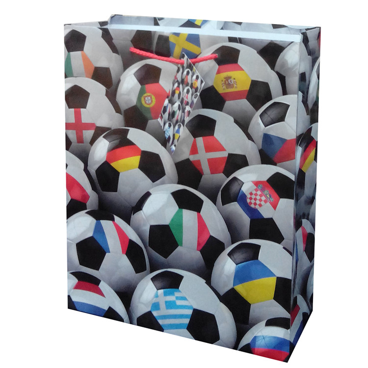 New Products Durable Printing Sports Paper Shopping Gift Bag With Rope Handle
