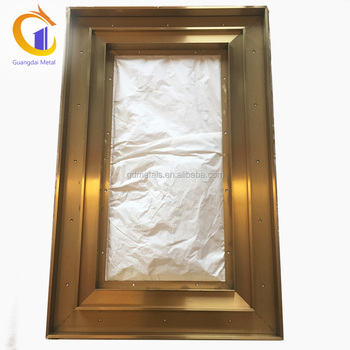 Custom Golden Decorative Stainless Steel Framed Square Glass Mirror Frame