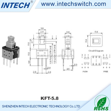 DC 30V 0.5A momentary lever switch smt, Push button switch