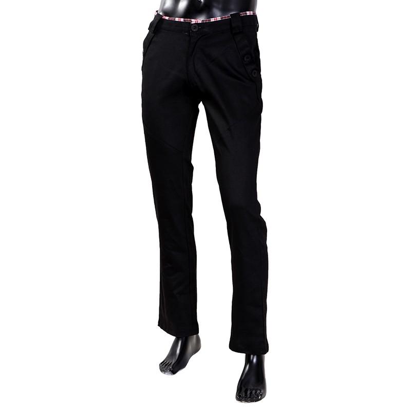 Men's Stylish Pants Slim Fit Casual Trousers Long Straight Leg