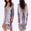 Plus size boho style new design woman loose casual print kaftan dress