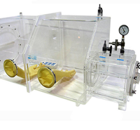 Transparent Acrylic & Plexiglass Vacuum Glove Box For Lab Research