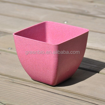 Wholesale cheap customizable color pink square desktop small flower wholesale cheap customizable color pink square desktop small flower pot bamboo fiber plant pot mightylinksfo