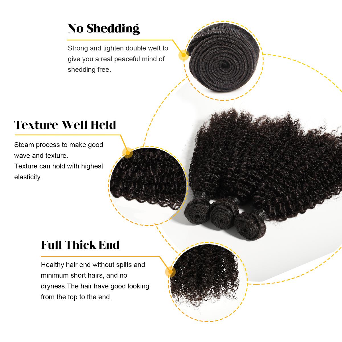 Bliss Emerald Hair jerry curl virgin human hair bundles jerry curl bulk hair