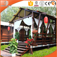 Hot sale cheap log cabins prefab house and luxury wooden house prefabricated fiberglass houses and small villa design