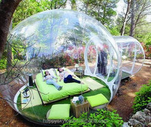 Hot sale custom transparent camping bubble inflatable yurt tent for event