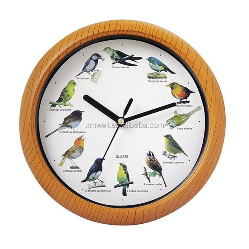 Talking Wall Clock With Musical Instrumentanimal Sound Nature
