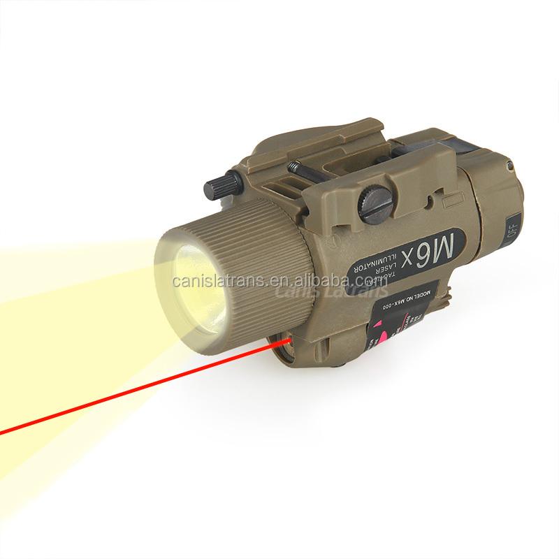 ปืนลมและอาวุธปืนปืนล่าสัตว์และยิงยุทธวิธีM6ไฟฉายเลเซอร์สีแดงด้วยc ombo