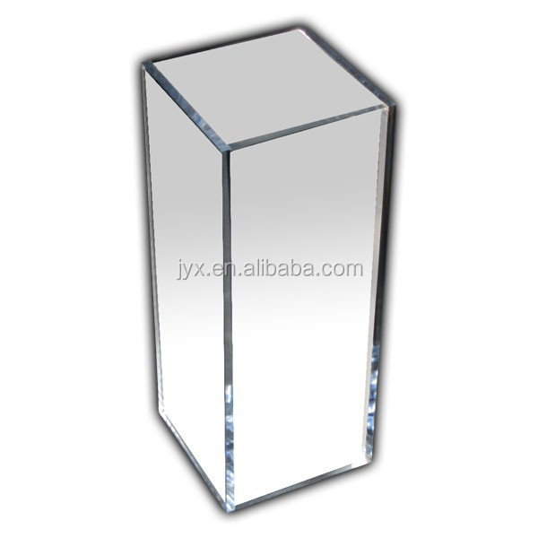 Acrylic Mirror Pedestal Acrylic Square Column Display Stand ...