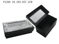 Simple Paper Gift Packaging Sock Box With PVC Window