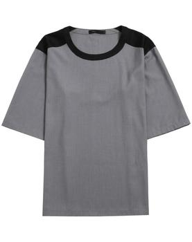 Summer New Stripes Baggy Round Collar Men's T-Shirts