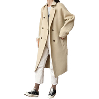 2018 wholesale Korean style is loose fashion winter cashmere women coat