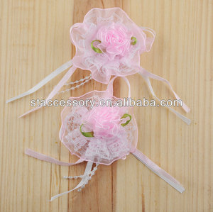 handmade fabric chiffon craft flower for decoration weeding supply