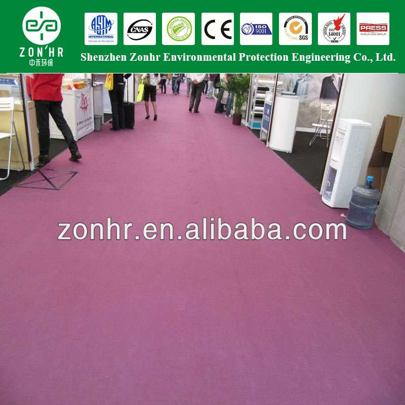 100% polyester exhibition carpet used for wedding aisle runner