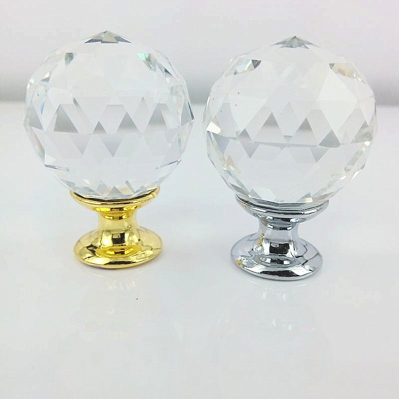 40mm Crystal Furniture Handles Drawer cabinets spherical luxury crystal knobs