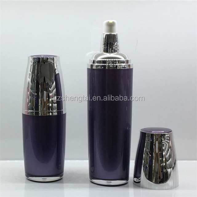 New Plastic Acrylic Cosmetics Pump Bottle Ellipse Cream Packing