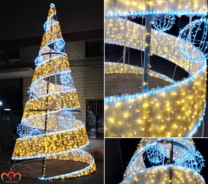 Commercial Outdoor Christmas Tree Lights: Artificial Giant Outdoor Commercial Lighted Christmas Tree